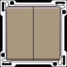 NIKO-2x 1/2 TOETS BRONZE-123-61505