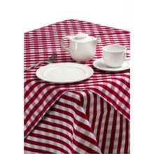 Gingham polyester tafelkleed 90x90cm-Sans Marque