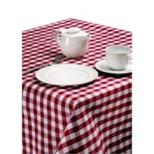 Gingham polyester tafelkleed 130x130cm-Sans Marque