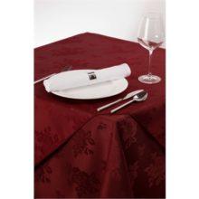 Tafelkleed 90x90cm bordeaux-Sans Marque