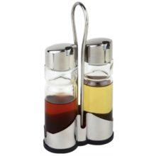 Tafelset olie- en azijnflesjes met houder-Sans Marque