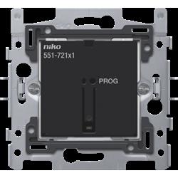Niko 551-72101: Geconnecteerde enkelvoudige schakelaar, sokkel 60 x 71 mm, klauwbevestiging