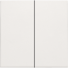 Niko 101-31004: Afwerkingsset voor dubbele elektronische schakelaar of drukknop, white