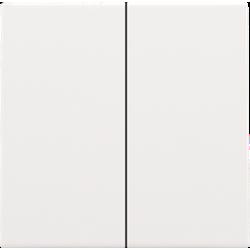 Niko 154-31004: Afwerkingsset voor dubbele elektronische schakelaar of drukknop, white coated