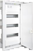 Inbouw verdeelbord met 3 rijen van 14 modulen. Stevige 42-modulen kast vervaardigd uit thermoplastisch materiaal met metalen deur. Solera Metalbox MP42