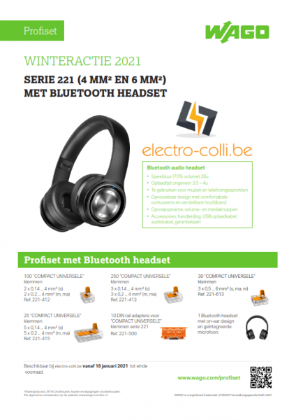 Wago 887-979: Wago Profiset 2021 - Winteractie met Bluetooth hoofdtelefoon - WAGO887979