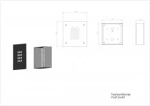 Aiphone AC10FB_toetsenklavier mat zwart_001